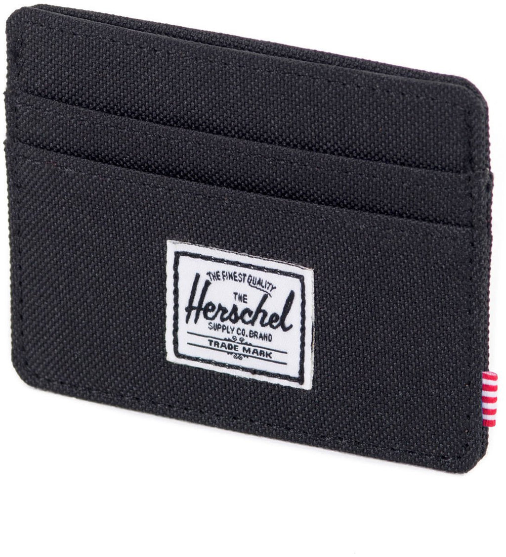 Herschel Supply Co Charlie RFID Card Holder Wallet Black