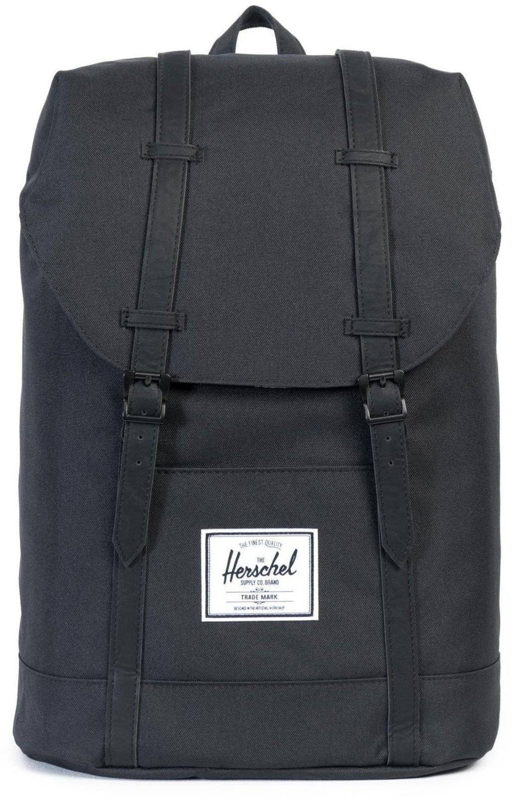 Herschel Supply Co Retreat Straps Backpack Rucksack Bag Black