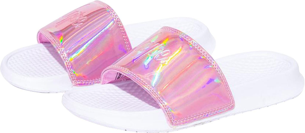 Hype Aurora Holographic Sliders Pink