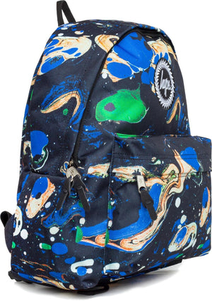 Hype Blue Marble Backpack Bag Navy
