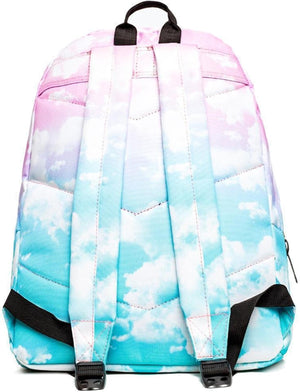 Hype Cloud Fade Backpack Bag with Pom Pom Pink