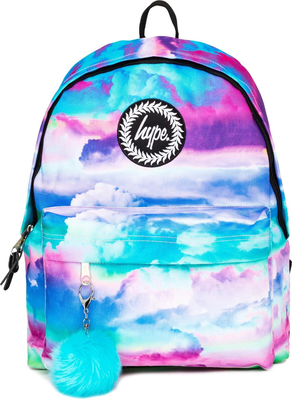 Hype Cloud Hues Pom Pom Backpack Bag Multi