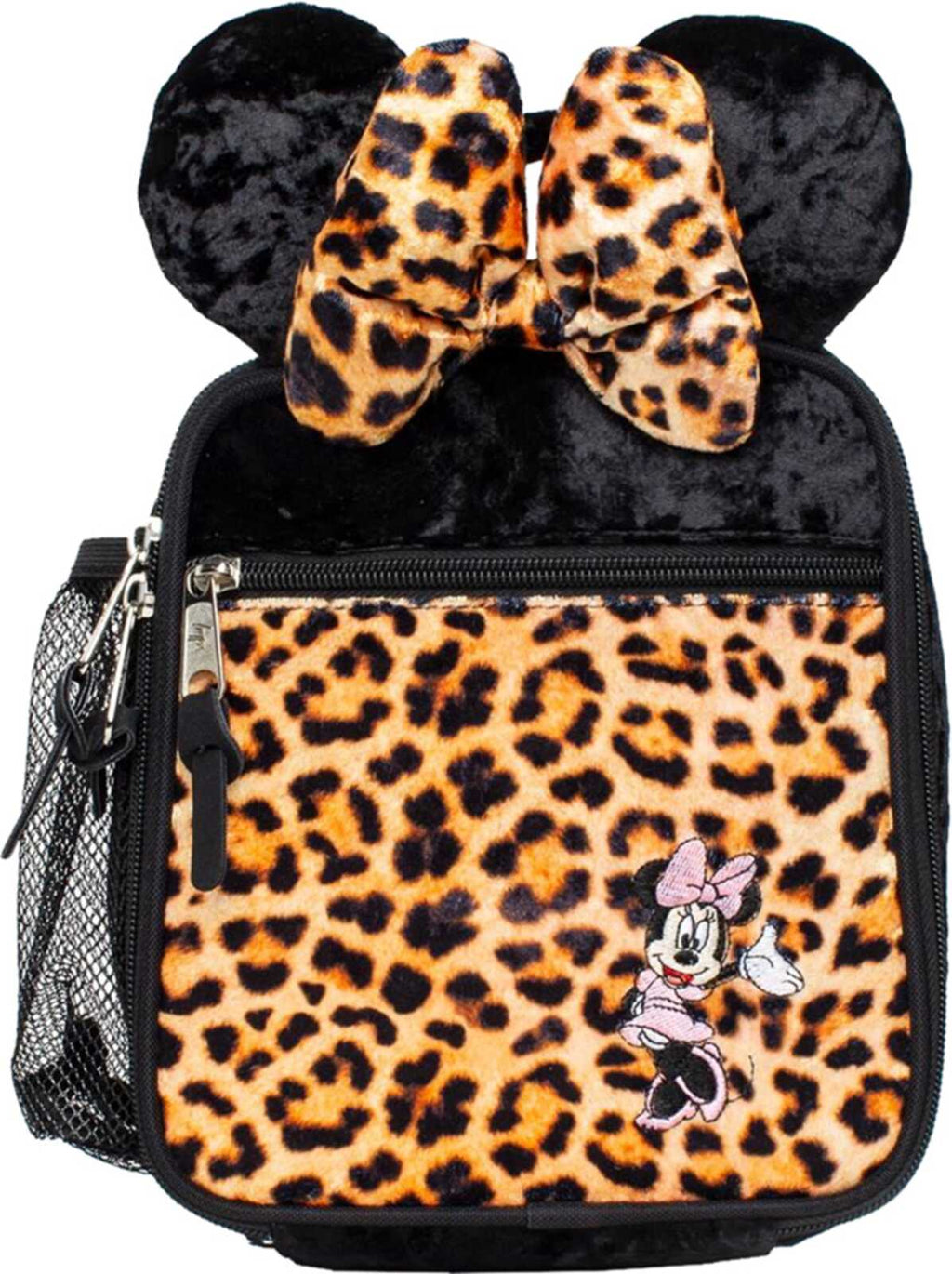 Hype Disney Minnie Leopard Lunch Box Bag	Black/Multi