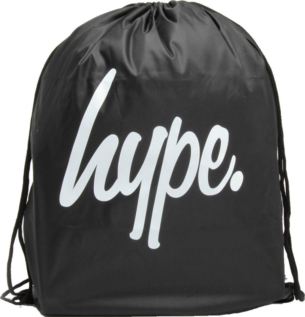 Hype Drawstring Gym Bag Black