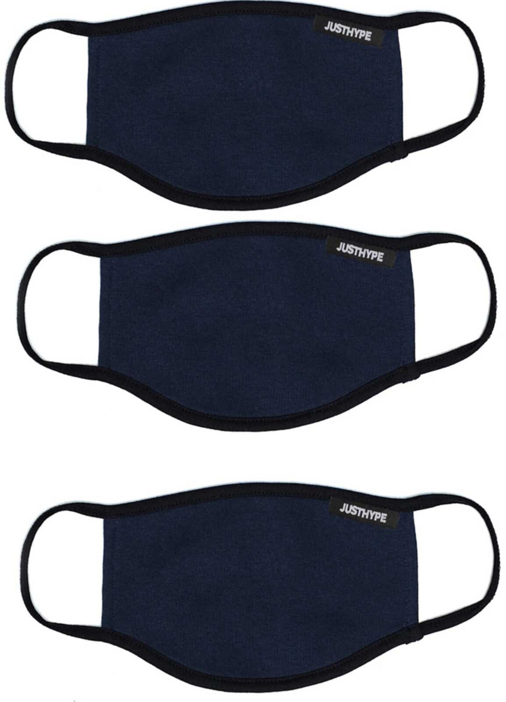 Hype Face Mask 3 Pack Adult Navy