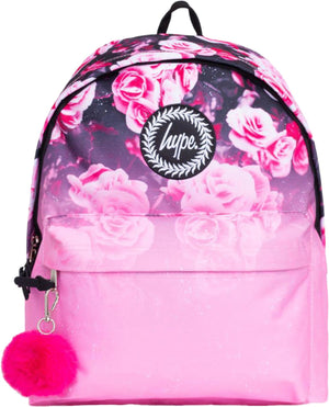 Hype Floral Fade Backpack Bag Pink