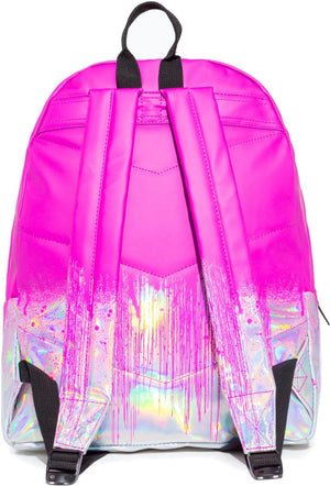 Hype Holo Drips Backpack Bag Pink
