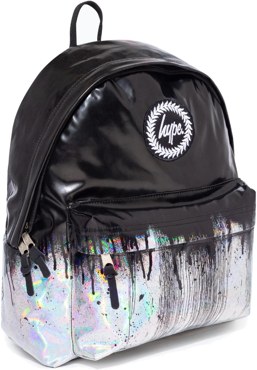 Hype Holographic Drips Backpack Bag Black