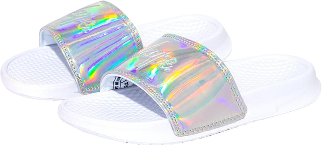 Hype Holographic Sliders Grey