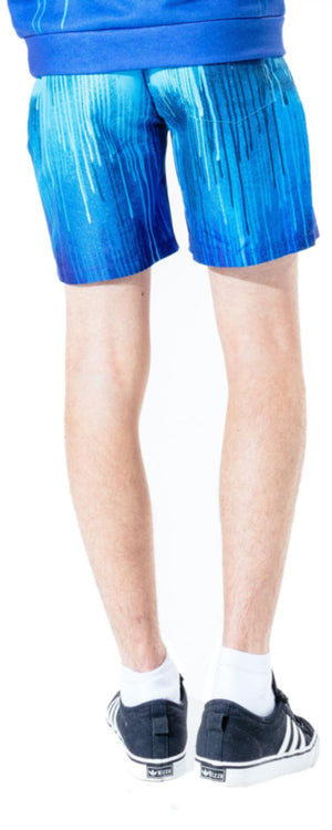 Hype Kids Blue Drips Shorts Blue