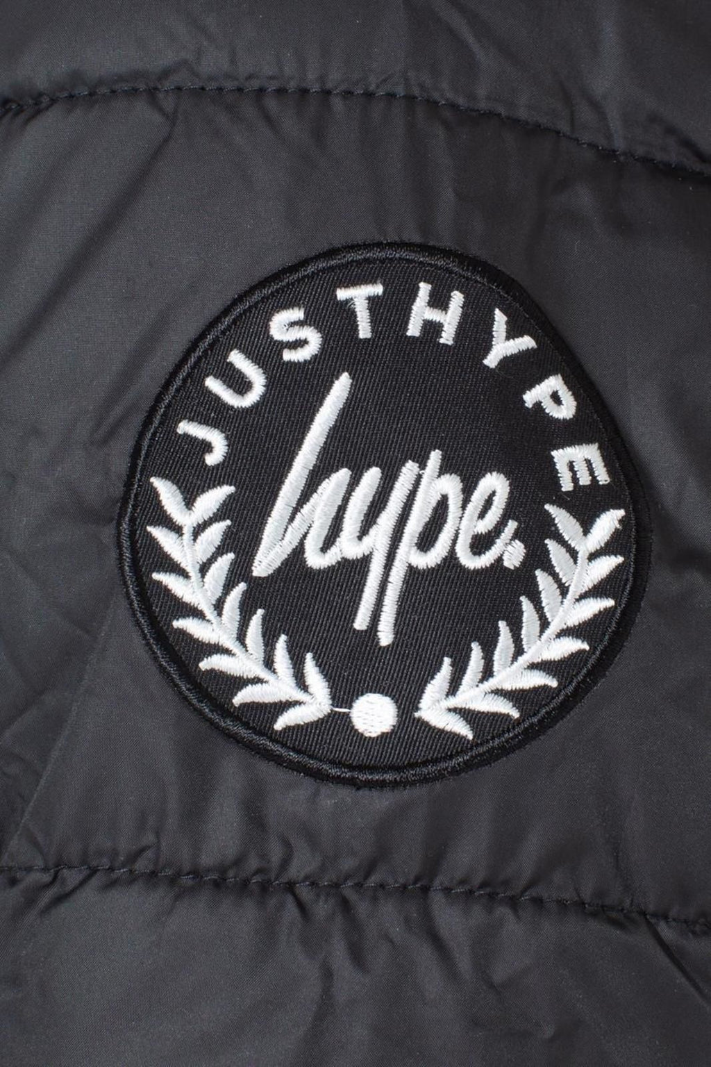 Hype Kids Crest Puffer Jacket Black