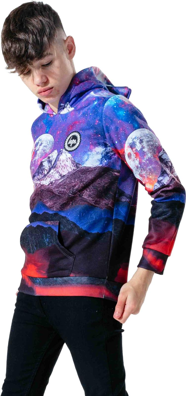 Hype Kids Galactic Worlds Crest Hoodie Multi