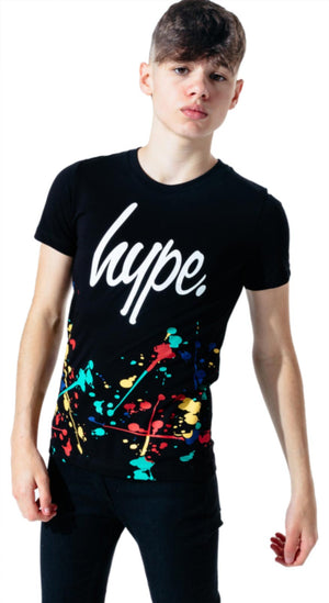 Hype Kids Painter Splat T-Shirt Black