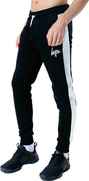 Hype Kids Silver Panel Joggers Black