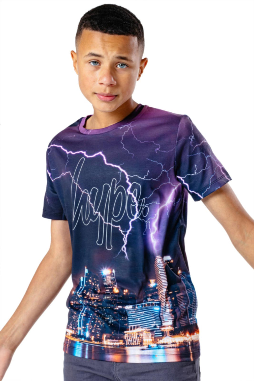Hype Kids Skyline T-Shirt Multi