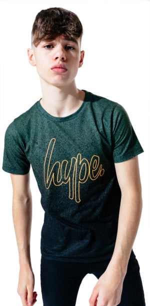 Hype Kids Speckle Fade T-Shirt Black