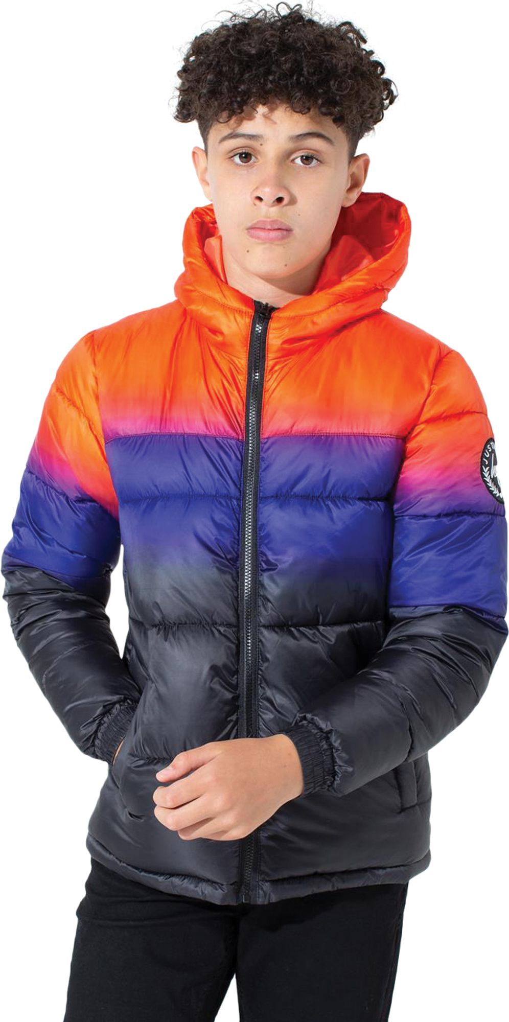 Hype Kids Sunbeam Fade Puffer Jacket Multi