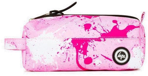 Hype Large Splatter Pencil Case Pink/Fuchsia