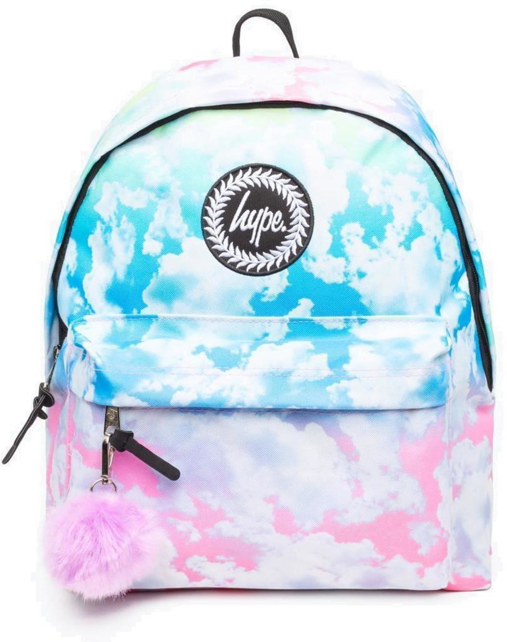 Hype Pastel Gradient Clouds Pom Pom Backpack Bag Multi