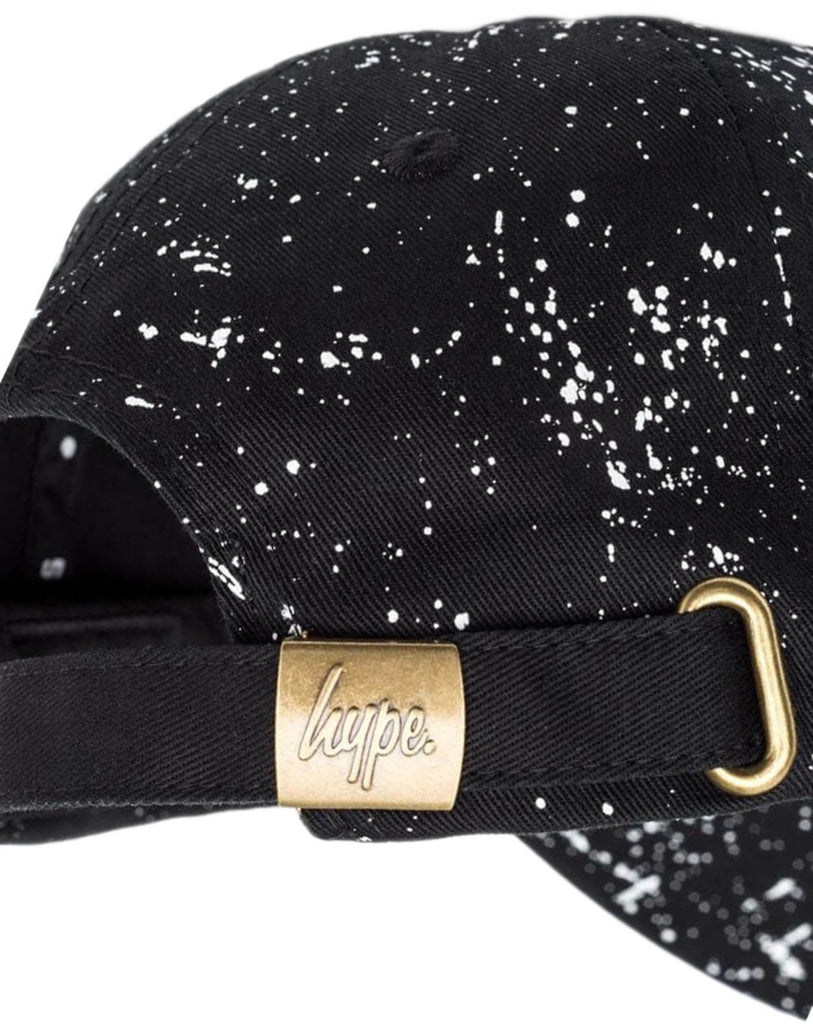 Hype Speckled Dad Script Logo Adjustable Baseball Cap Black/White