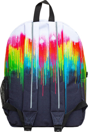 Hype Utility Multi Drips Backpack Bag White