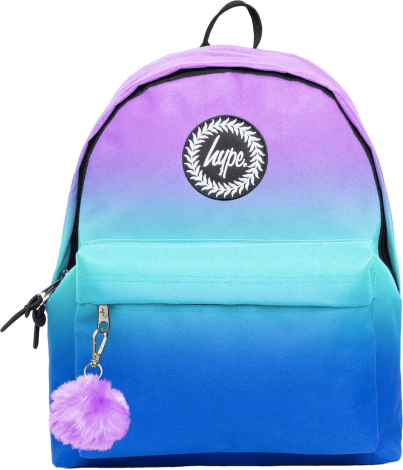 Hype Violet Fade Pom Pom Backpack Bag Multi