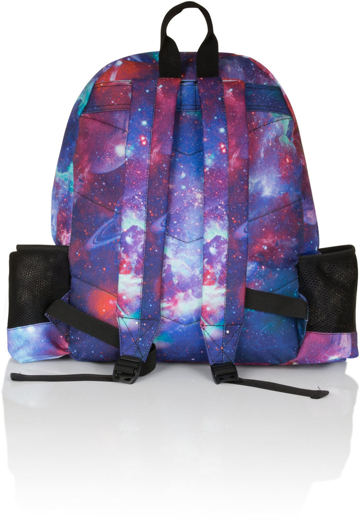 Hype Water Bottle Galaxy Print Backpack Bag