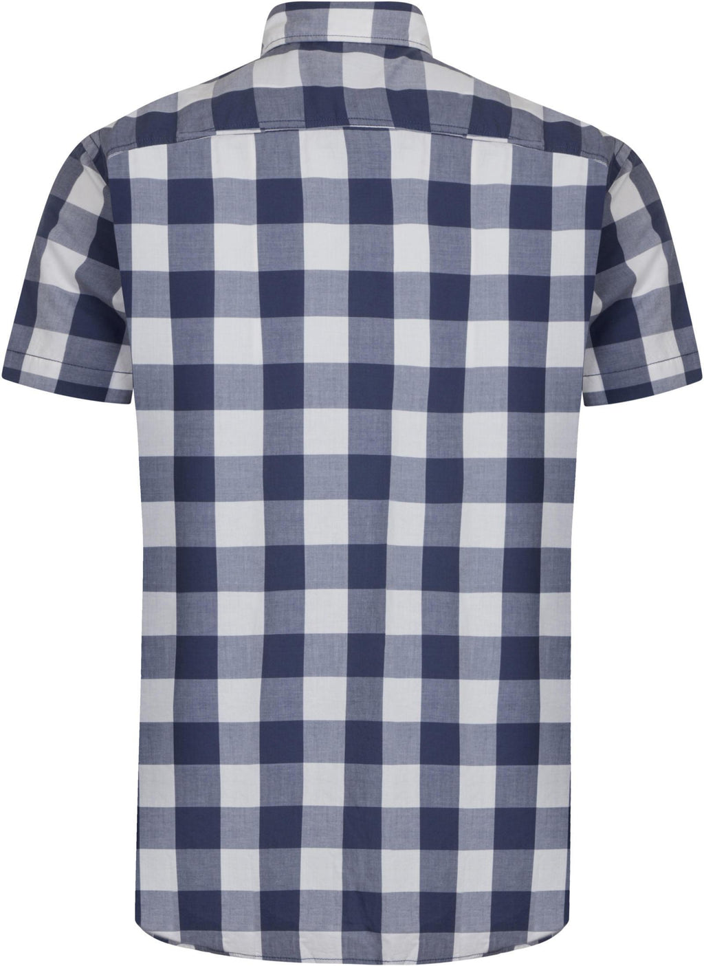 Jack & Jones Boise Slim Fit Short Sleeve Checked Shirt Blue
