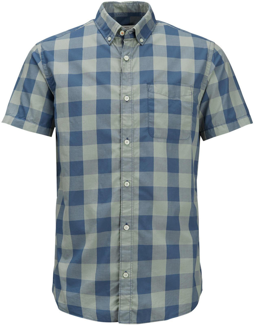 Jack & Jones Boise Slim Fit Short Sleeve Checked Shirt Green