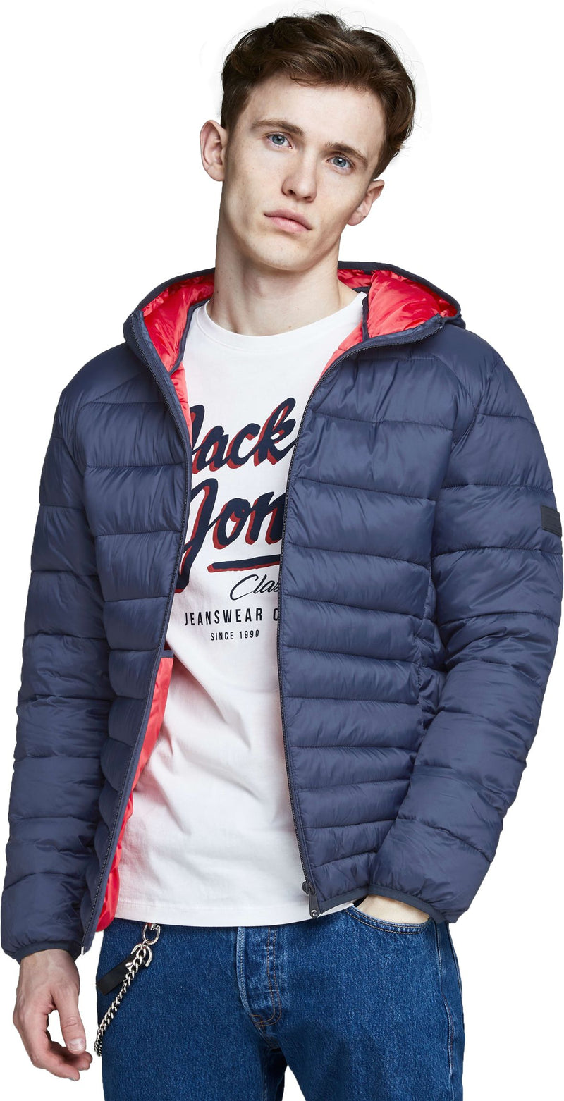Jack & Jones Bomb Lightweight Puffer Jacket  Navy