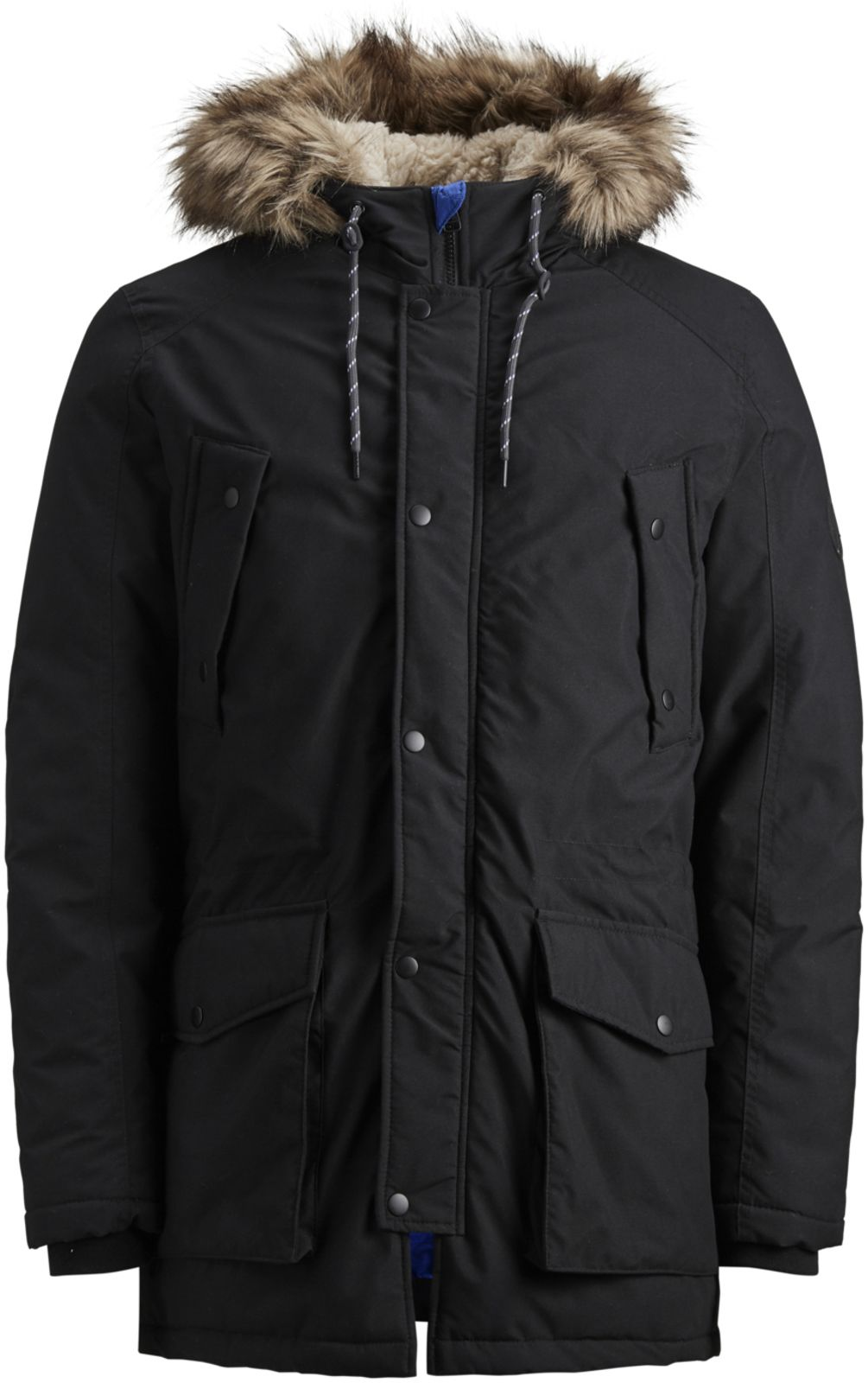 Jack & Jones Explore Parka Jacket Black
