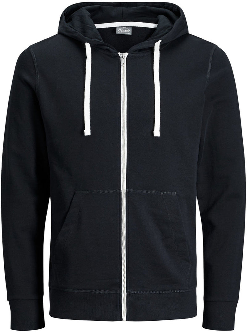 Jack & Jones Holmen Zip Front Sweat Hoodie Black
