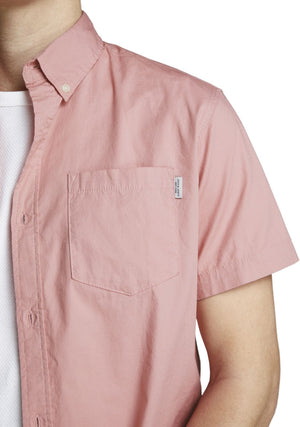 Jack & Jones Jones Short Sleeve Shirt Pink