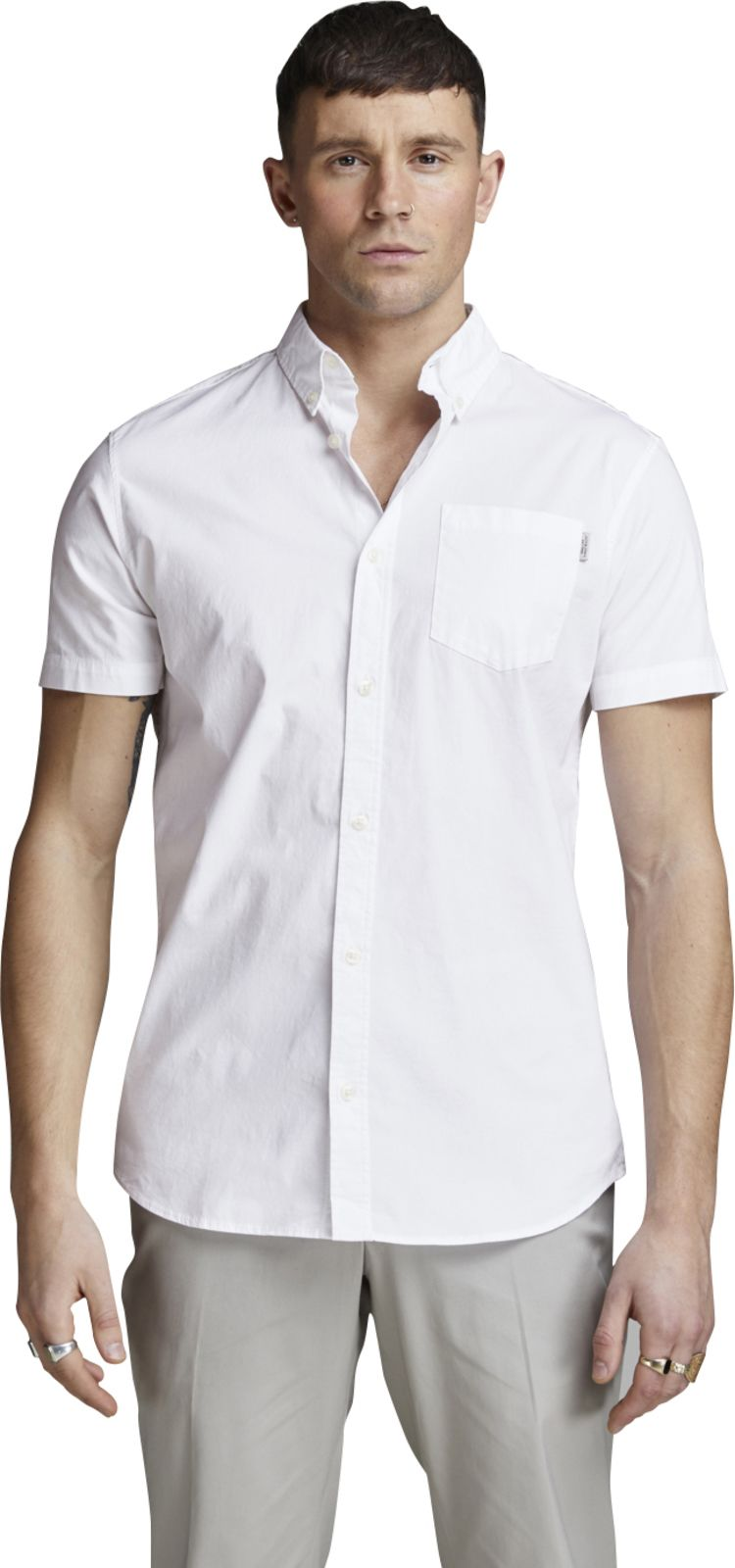 Jack & Jones Jones Short Sleeve Shirt White