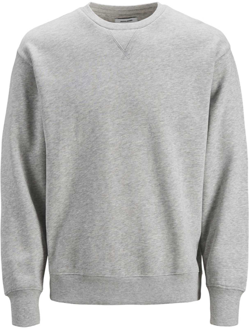 Jack & Jones Melange Crew Neck Sweatshirt Light Grey