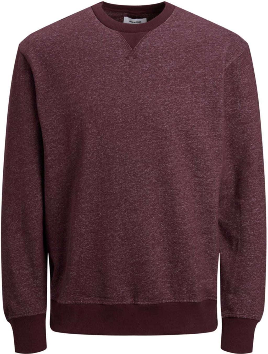 Jack & Jones Melange Crew Neck Sweatshirt Burgundy