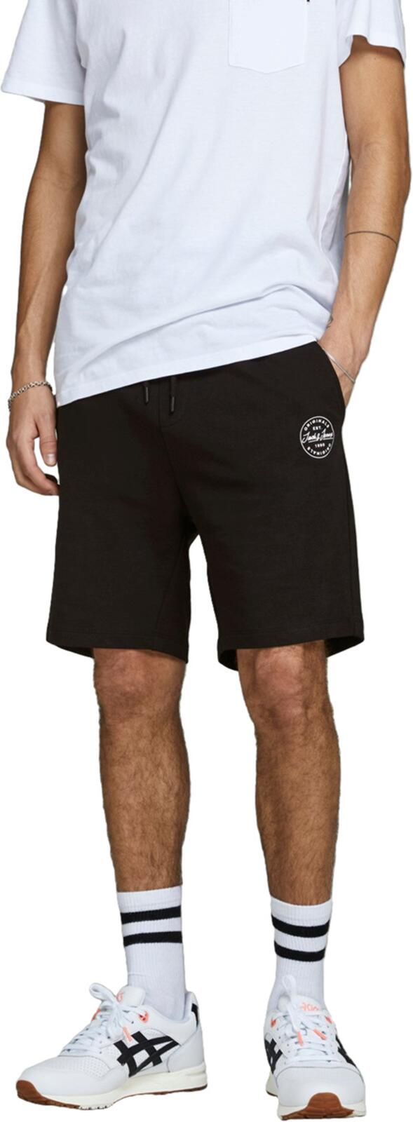 Jack & Jones Shark Sweat Shorts Black