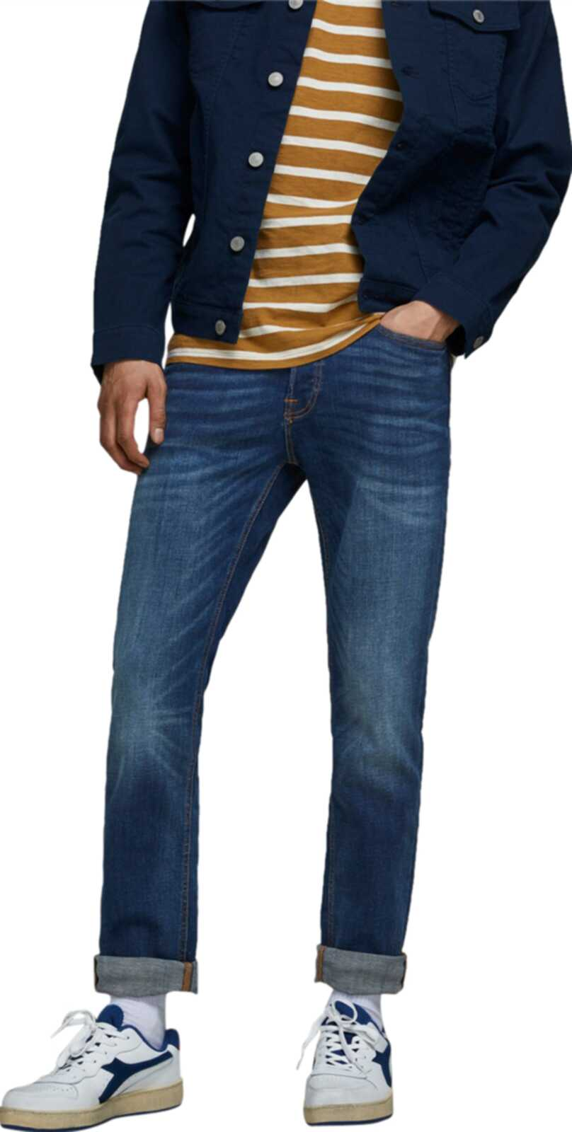 Jack & Jones Tim Slim Fit 782 Denim Jeans	Blue Denim