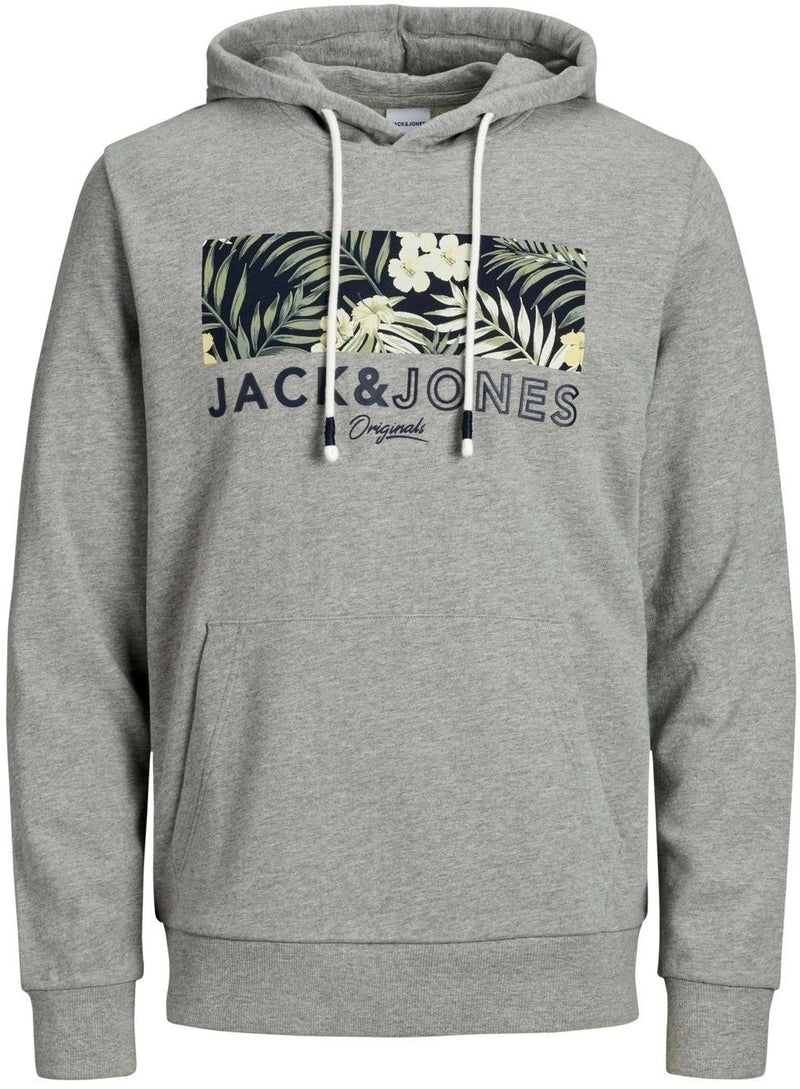 Jack & Jones Tropic Hoodie Grey