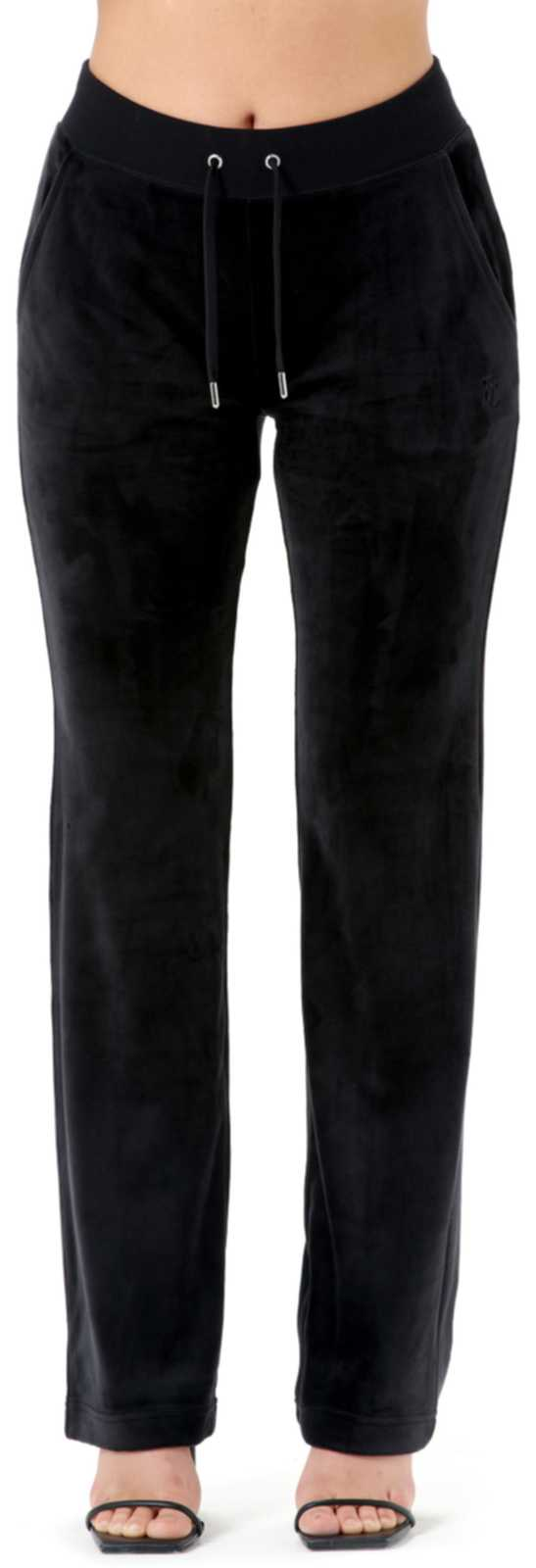 Juicy Couture Del Ray Velour Bottoms	Black