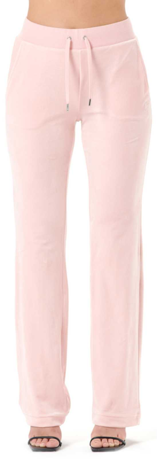 Juicy Couture Del Ray Velour Bottoms	Pale Pink