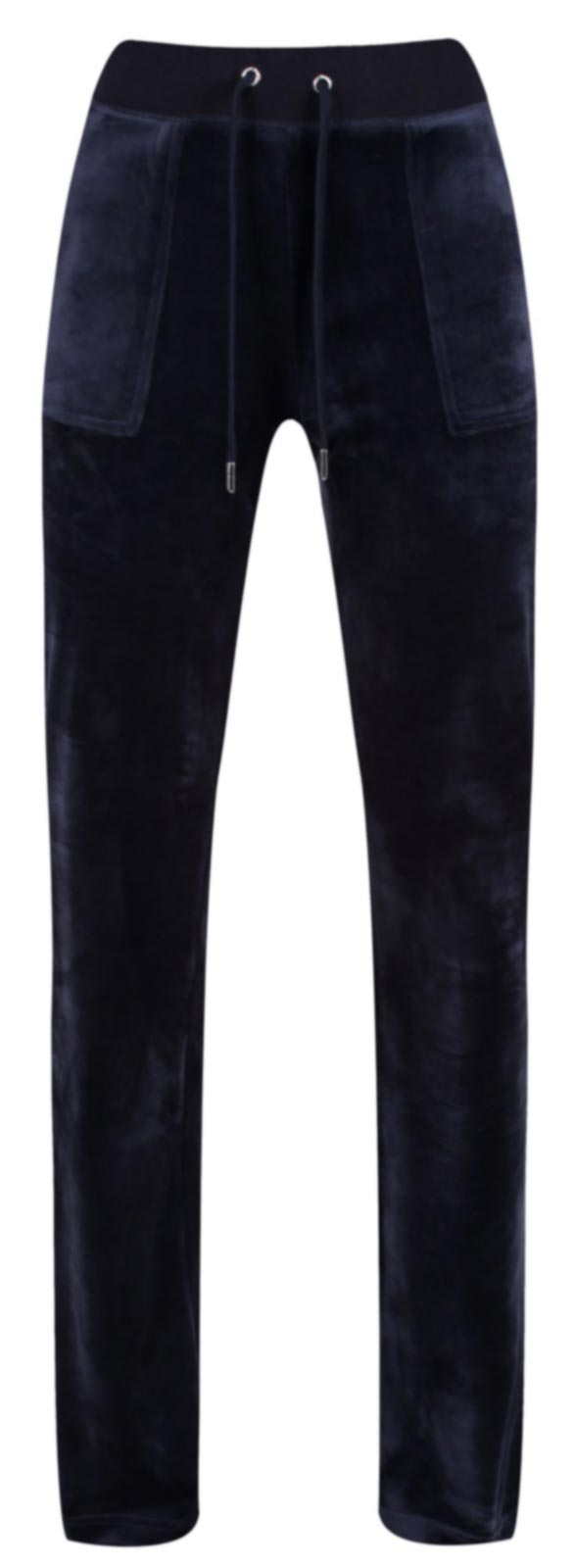 Juicy Couture Del Ray Velour Bottoms with Pockets Blue