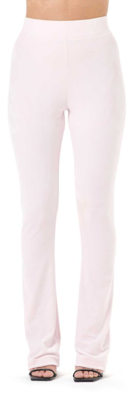 Juicy Couture Freya Diamante Flared Velour Bottoms	Almond Blossom
