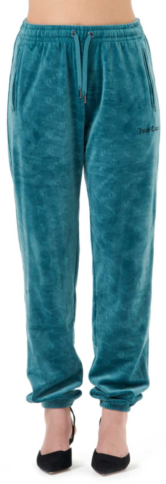 Juicy Couture Lilian Embossed Velour Bottoms	Sea Moss