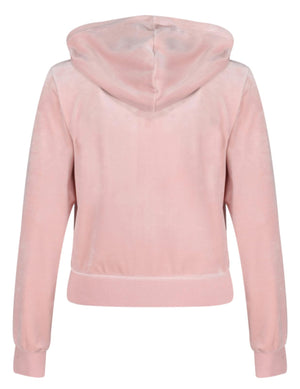 Juicy Couture Robertson Velour Zip Front Hoodie Pink