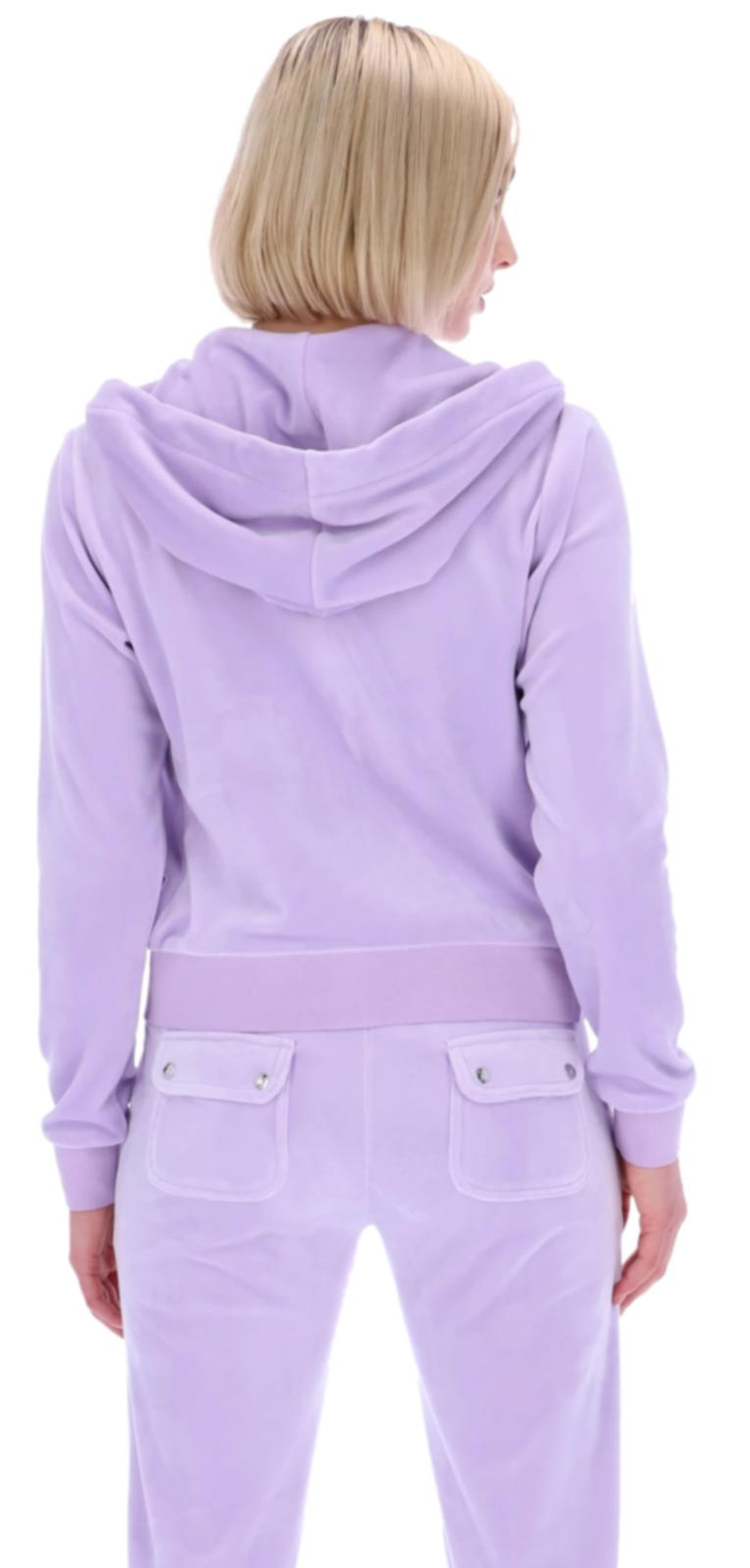 Juicy Couture Robertson Velour Zip Front Hoodie Purple