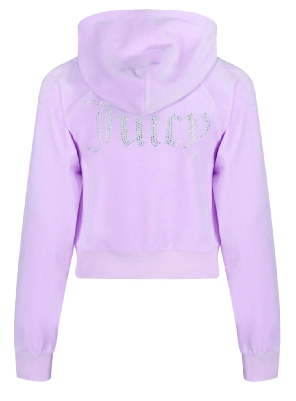 Juicy Couture Sally Diamante Velour Hoodie Purple
