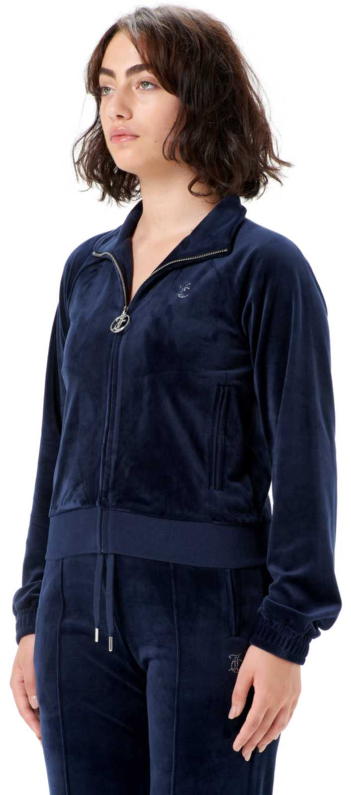 Juicy Couture Tanya Diamante Velour Track Top	Night Sky
