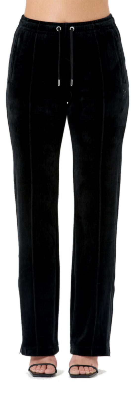 Juicy Couture Tina Velour Bottoms	Black