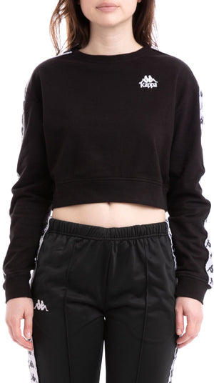 Kappa AYS Cropped Sweatshirt Black